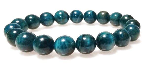画像1: ブルーアパタイトブレスレット (1)